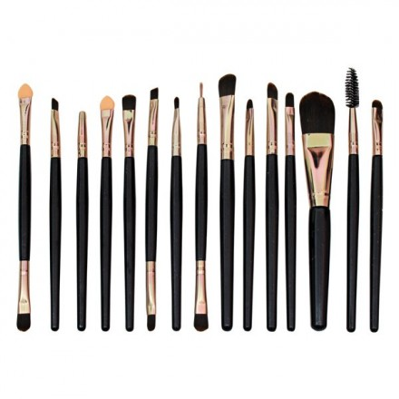Makeup Brushes Set 15 Pcs (Black)