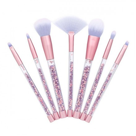 Purple Brush Set Glitter (7 pcs)