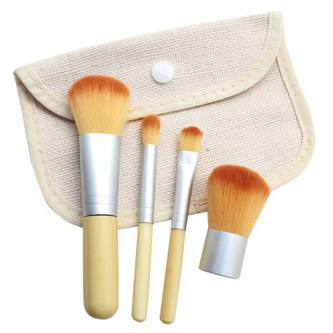 Travelling Bamboo Brush Set (4 Pcs) - Elite