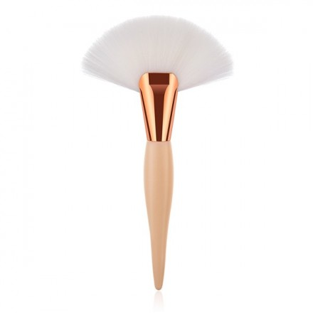 White Big Fan Brush Blending Highlighter Countour