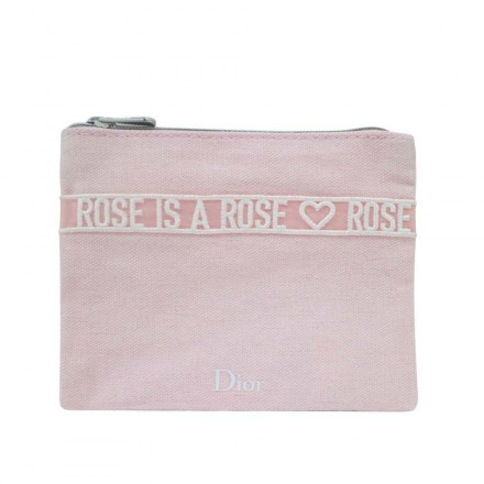 Christian Dior Rose Is A Rose Small Pouch