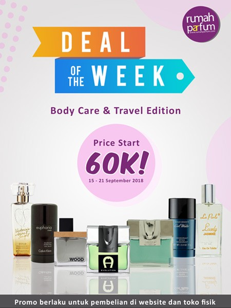 Deal of the Week15 - 21 September 2018